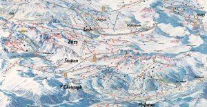 Arlberg Piste Map